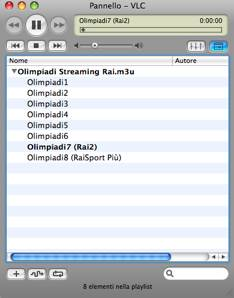 Olimpiadi in Streaming con VLC 2