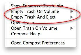 Compost - Gestione Trash Mac OS X