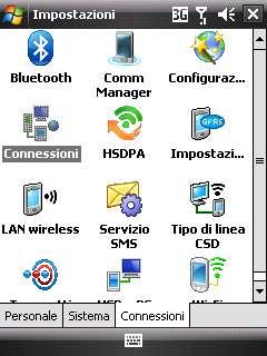 Configurazione WAP su Windows Mobile 6