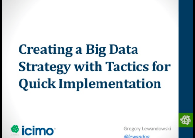 Creating a Big Data Strategy