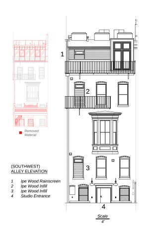 (Southwest) Alley Elevation - click to go to Plans & Elevations album