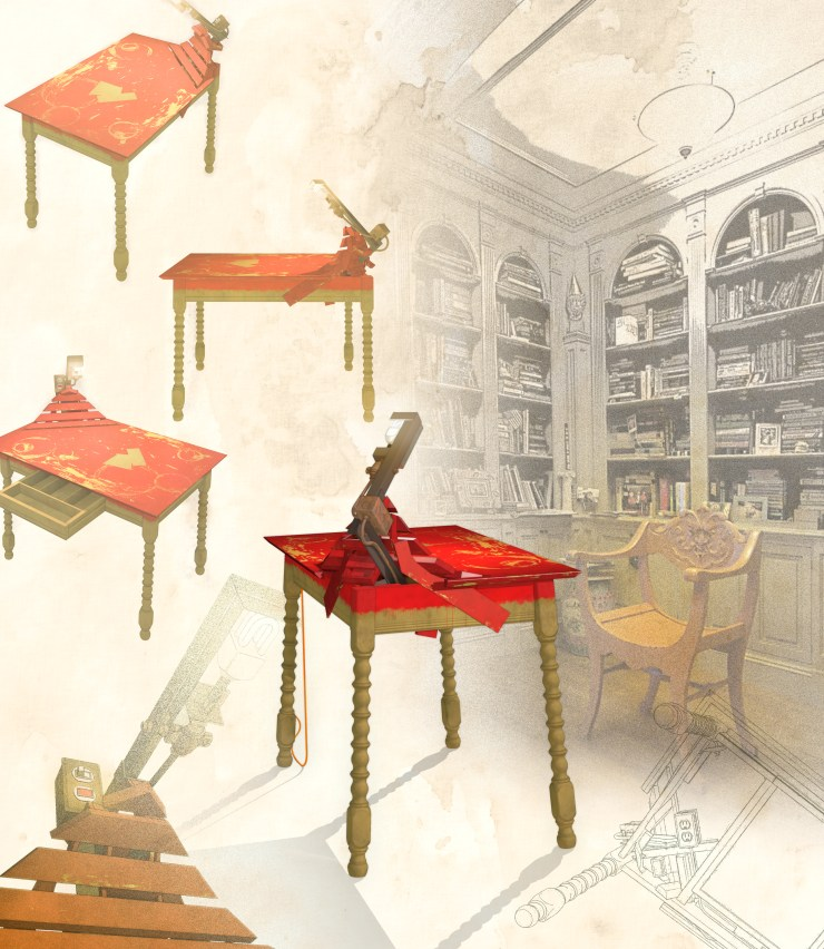 Bishop's Desk (2011) composite view rendering
