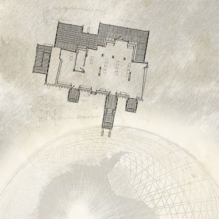Stormhouse (2009) plan with globe