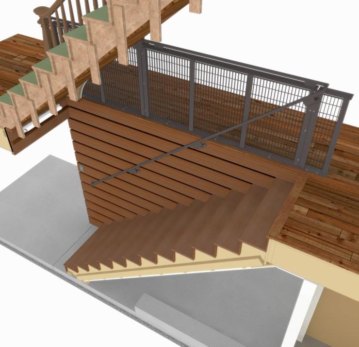 Subway Grate Guardrail (2016) preliminary rendering