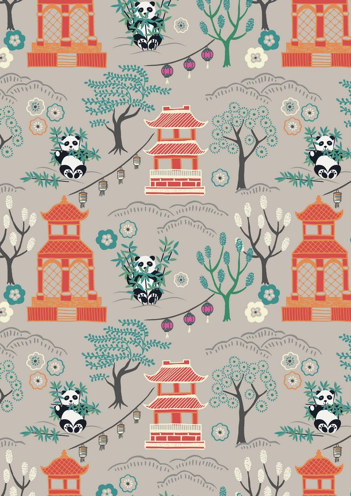 A116.2 - Panda temple on light grey