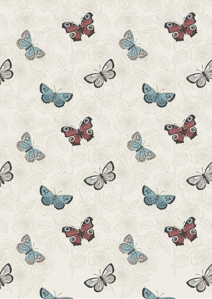 A125.1 - Cream butterfly sketch