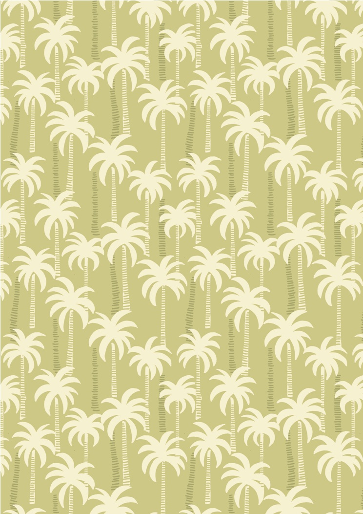 A132.2 - Palm trees on blue