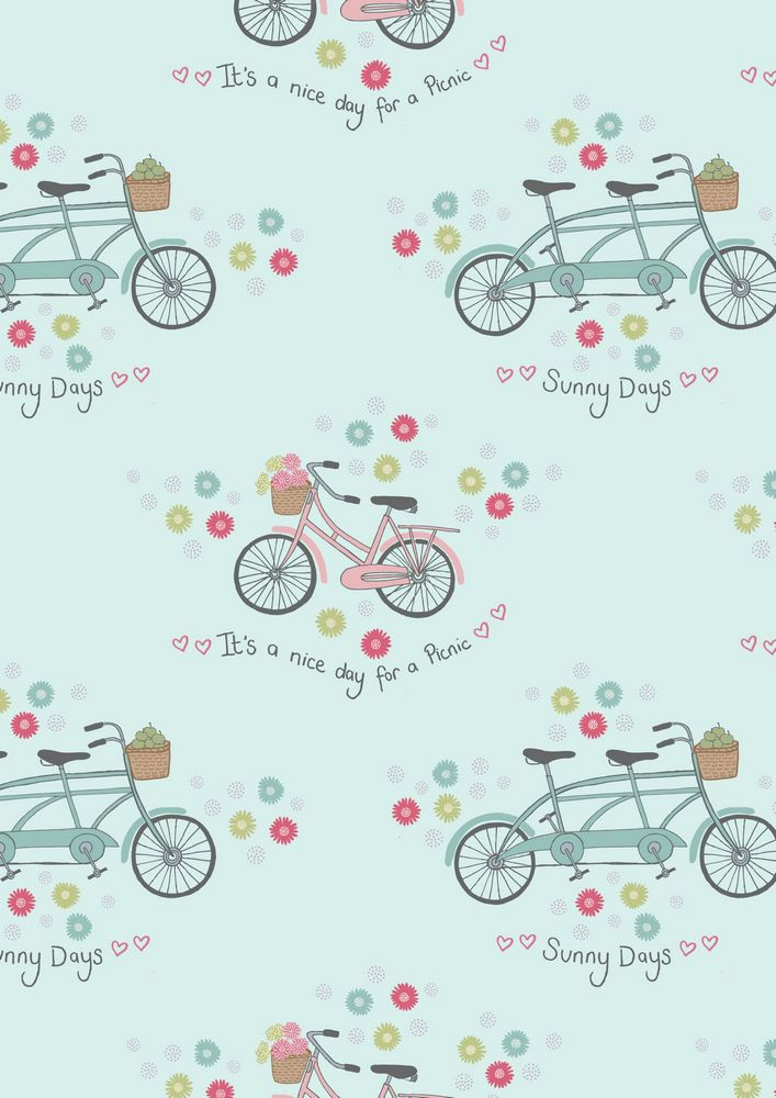 A152.2 - Bicycles on blue