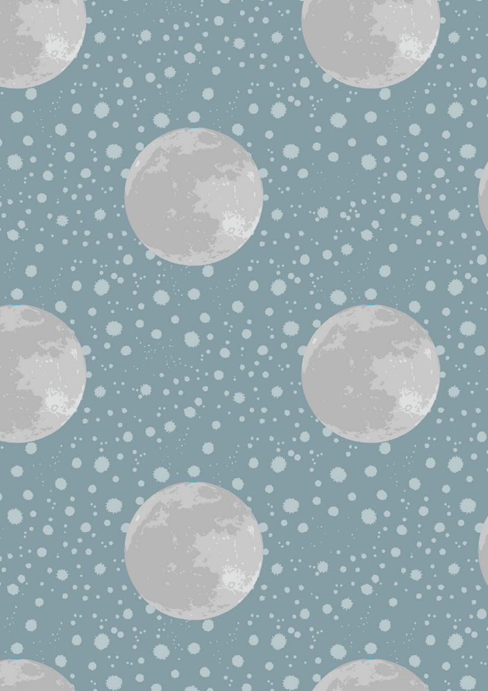 A164.1 - Moon on blue / grey