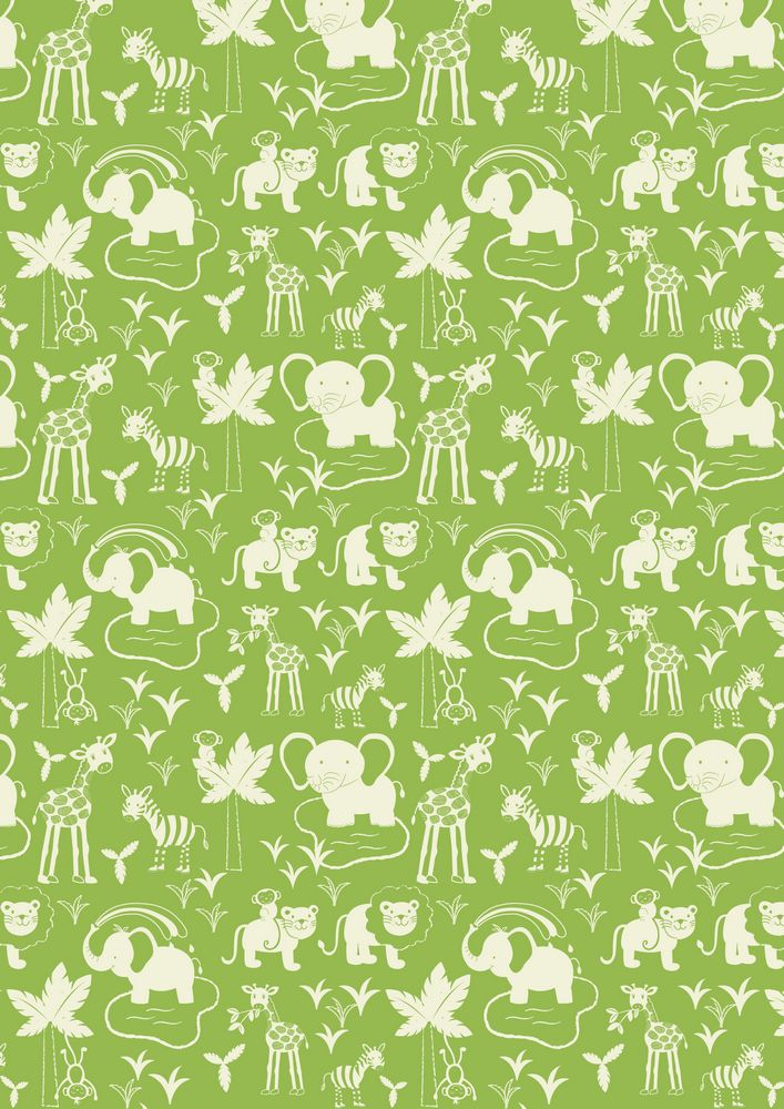 A51.2 - Safari animals on green