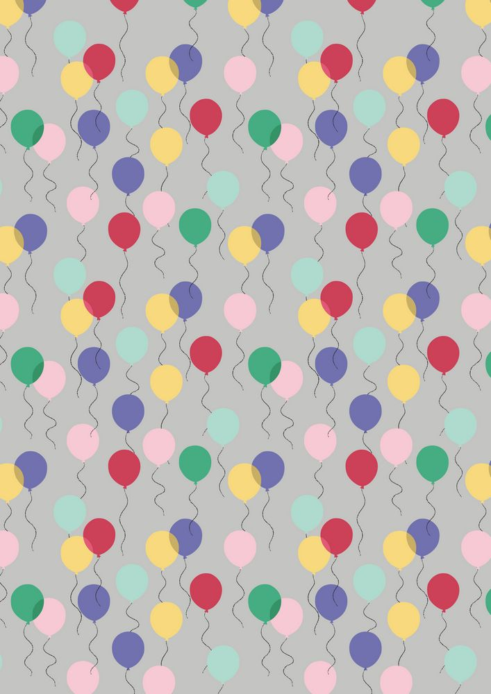 A74.3 - Balloons on grey