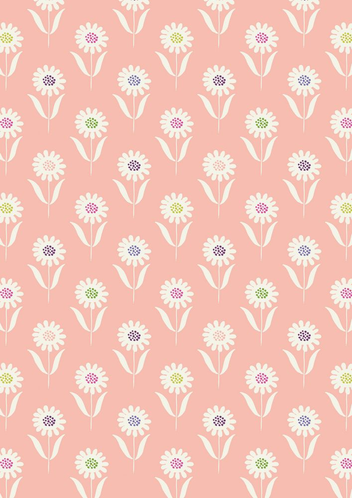 A83.1 - Daisies on warm pink
