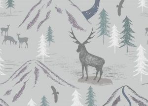 A86.1 - Royal stag on light grey