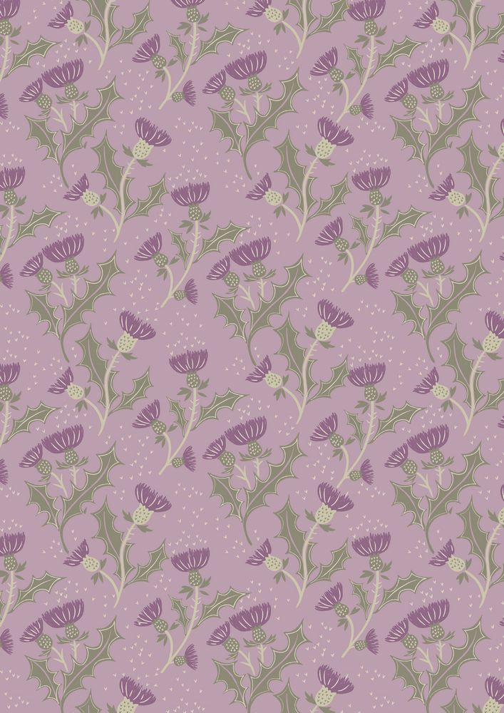 A89.5 - Thistle on lilac