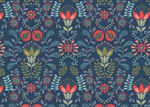 A97.1 - Flower garden on navy