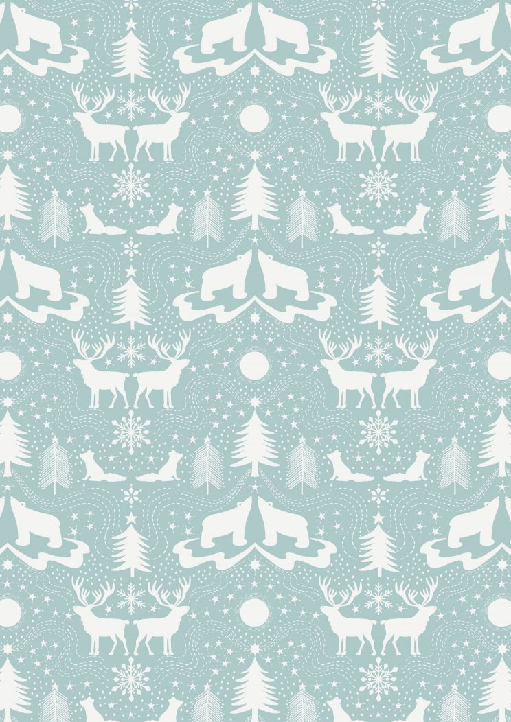 C5.3 - Arctic animals on icy blue