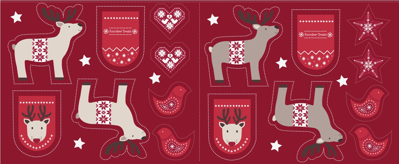 C6.3 - Cut me out reindeer on red