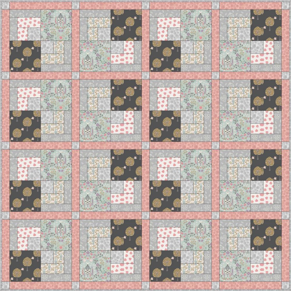 Dove house quilt design 2