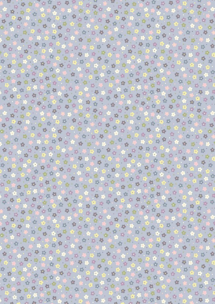 A206.3 - Little multi daisies on lavender