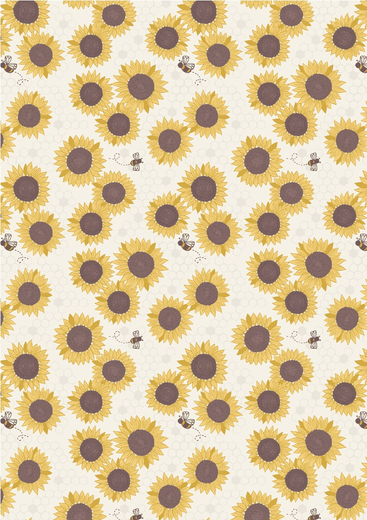 A211.1 - Sunflowers on light cream
