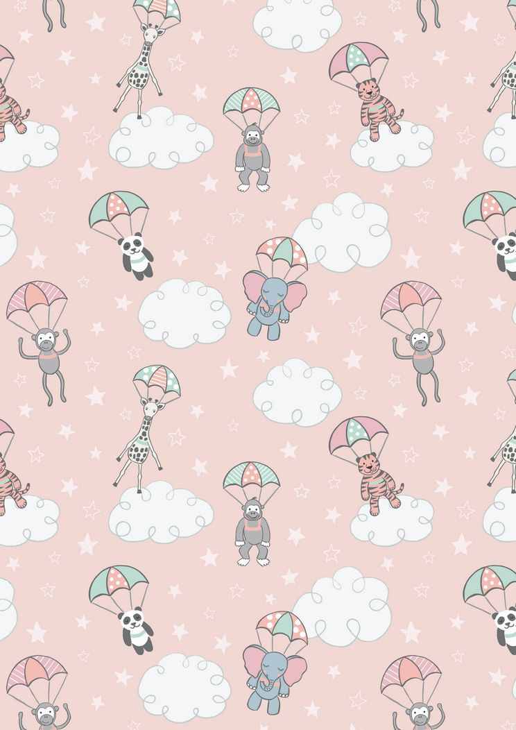 A215.2 - Parachuting babies on pink