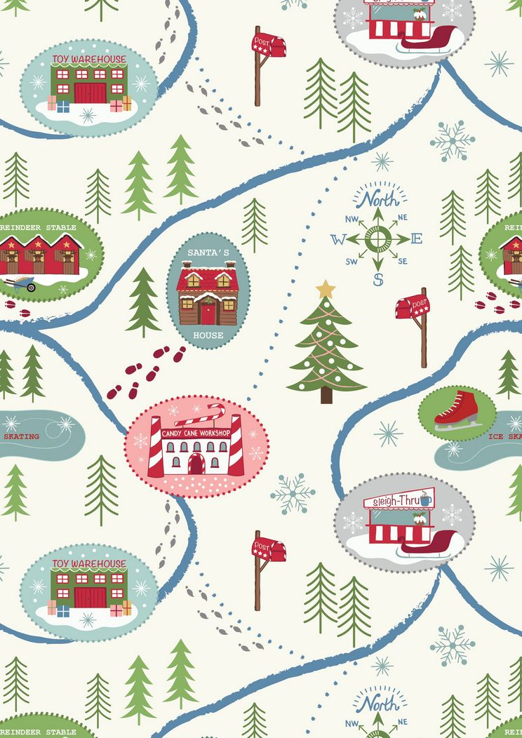 C13.1 - Santa map on snow