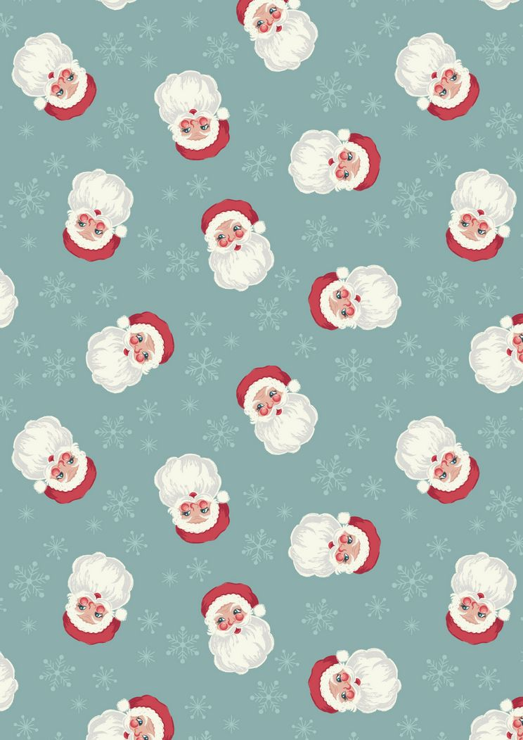 C14.2 - Vintage Santa on icy blue