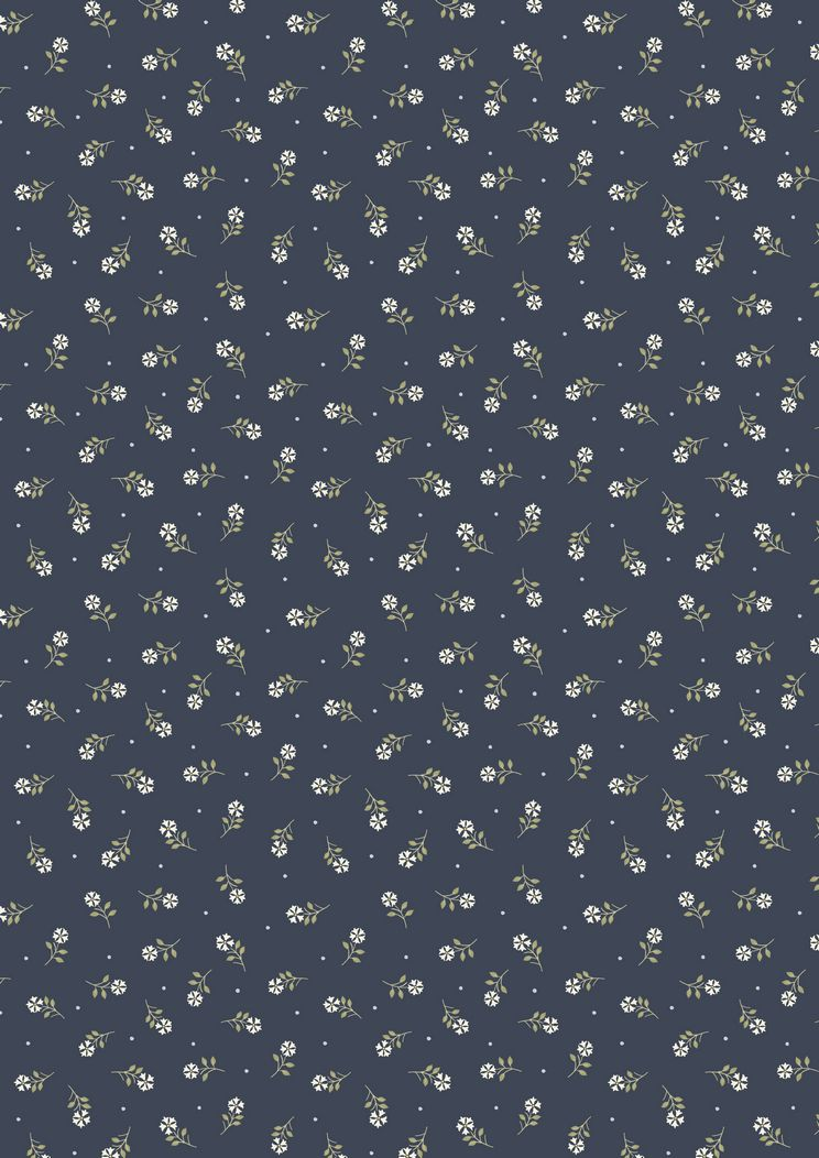 FLO1.6 - Navy tiny flower