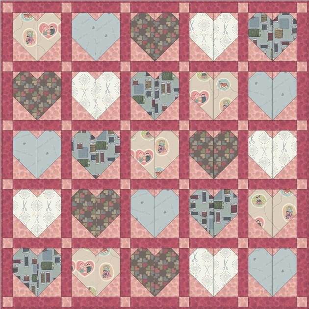 Threaded with love quilt design 1
