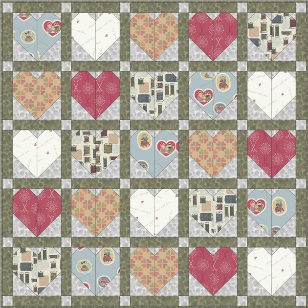 Threaded with love quilt design 2