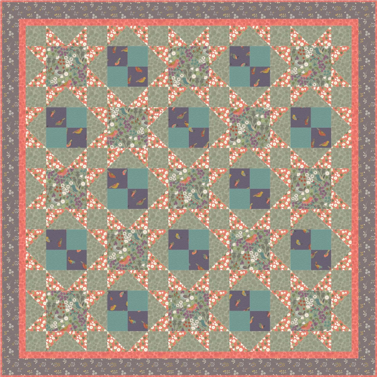 The Hedgerow Quilt Design 2