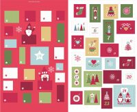 C32.2 - Hygge Christmas Advent Calender red