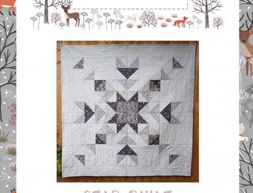 Winter in Bluebell Wood Star Quilt