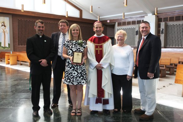 Mrs. Cindi Messina receives the 2014-2015 Lewis Award for Excellence in Teaching