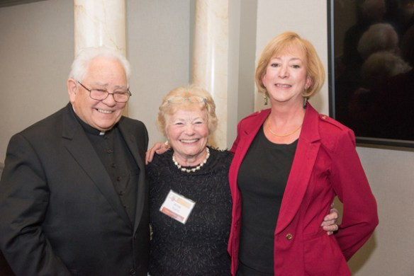 Monsignor Lewis, Anne, and Colleen