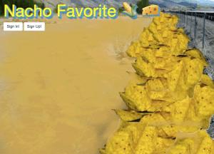 Nacho Favorite Home Page