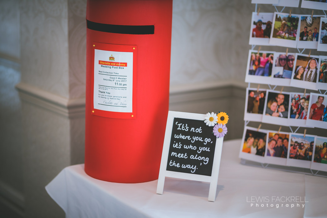 Post box for well wishers and thank you cards