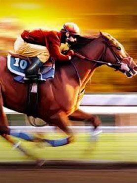 Horse with jockey