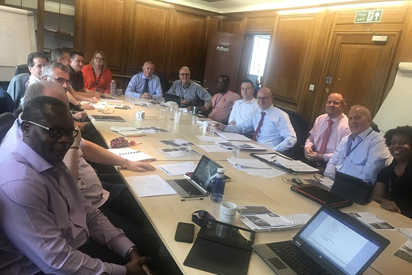 A project board meeting in session
