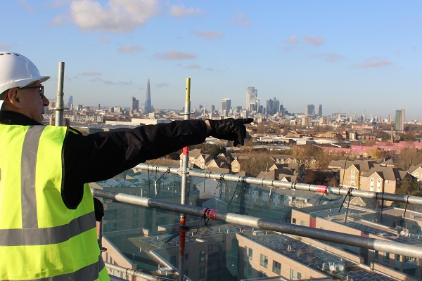 A view across London from the roof