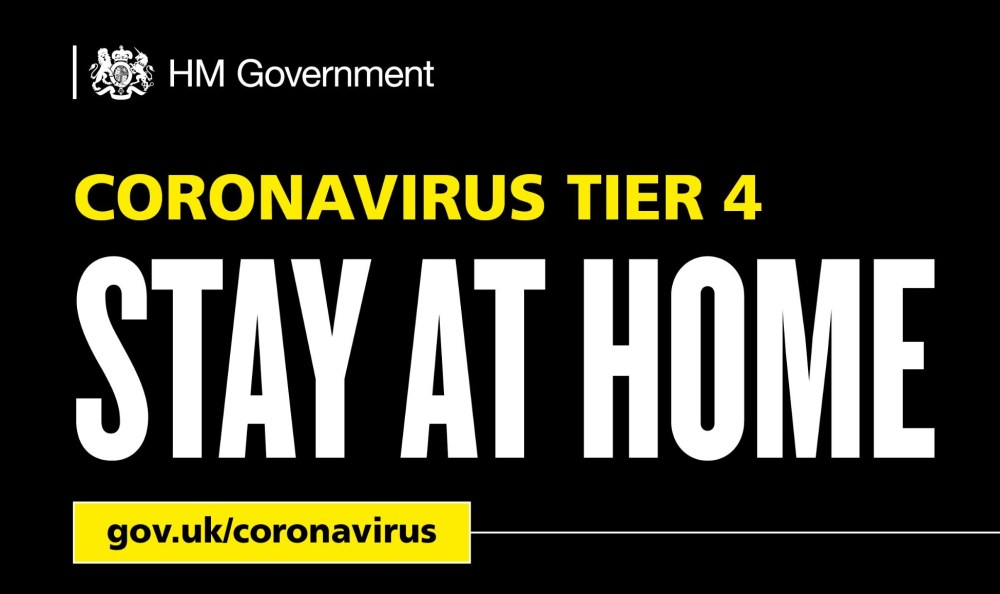 Coronavirus Tier 4 - Stay at home