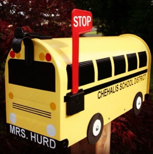 Branden has made BusBox mailboxes for weddings, bar mitzvahs, bat mitzvahs, birthdays and as holiday gifts. Photo courtesy: TheBusBox.