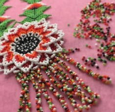 Melinda Brein crafted this intricate beaded flower. Photo courtesy: Melinda Brein.