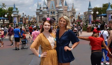 Daisy and her fellow Cast Member and roommate, Mackenzie, from Tennessee. Photo credit: Daisy Bower.