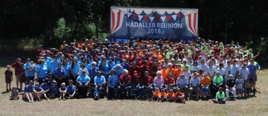 When the number of Hadaller descendants grew too large to meet at the original homestead, their family reunion was moved to Onalaska. Close to 450 family and friends attended the most recent gathering in 2018. The next reunion will mark 50 years since the first one and will take place in 2023. Photo courtesy: The Hadaller family
