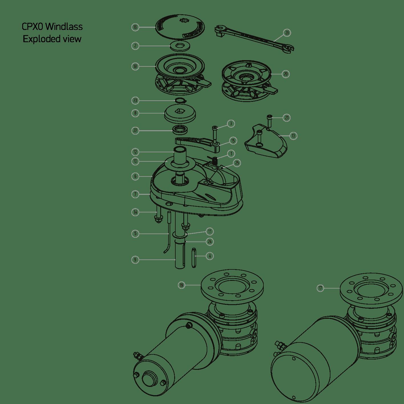 Cpx0 Windlass Spares