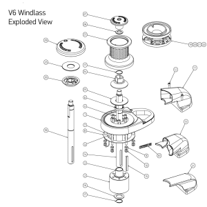 V8 Windlass Spares | Lewmar