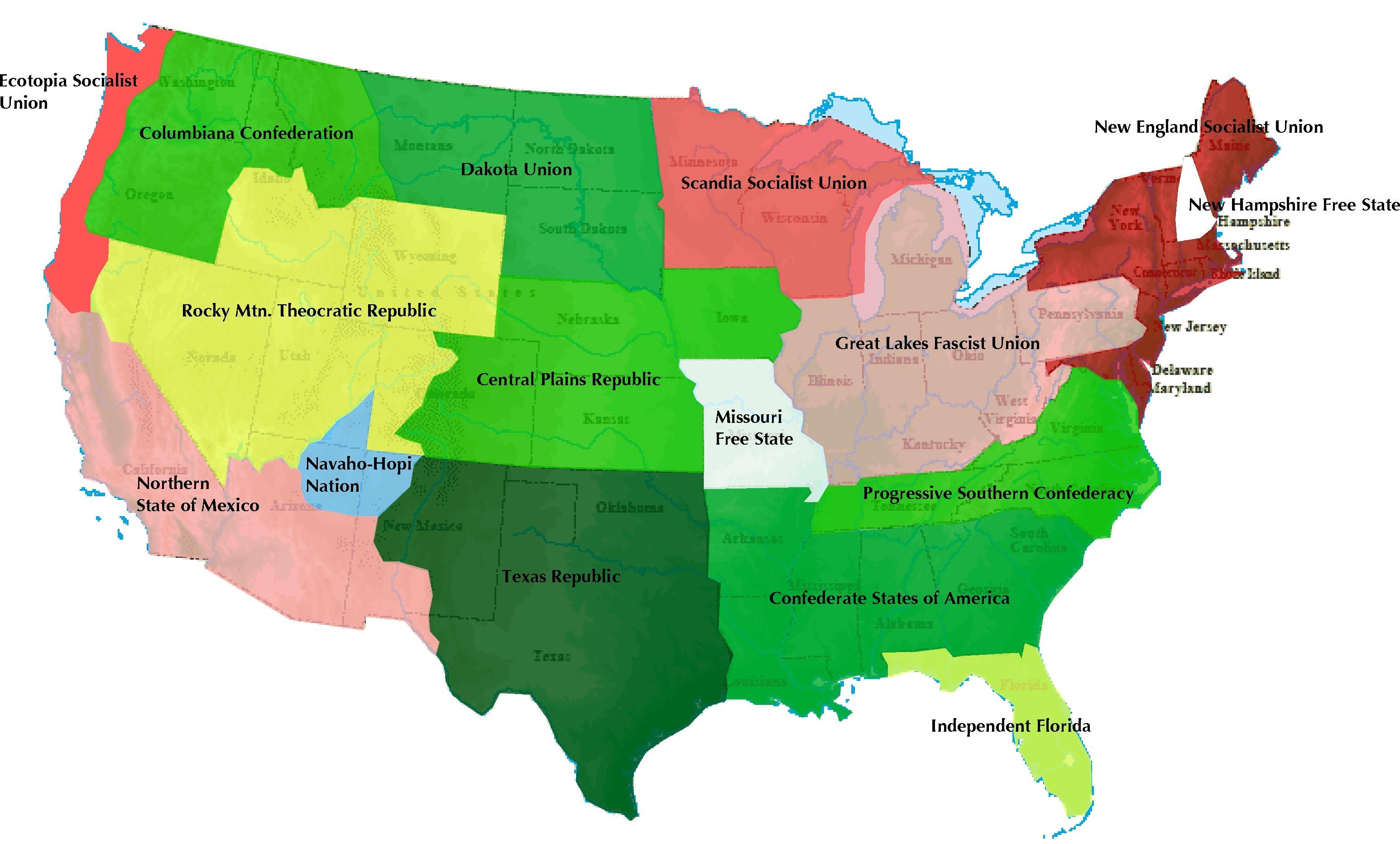 Post U S Map
