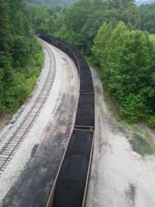 Train filled with coal