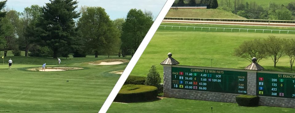 Golf course and horse racing